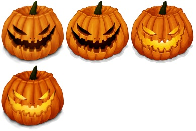 Halloween Pumpkins Icons by Nelson