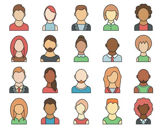 People Avatars Vector IconSet