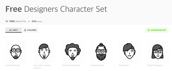 Design Characters Icons