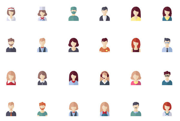 People Avatars Icon Pack