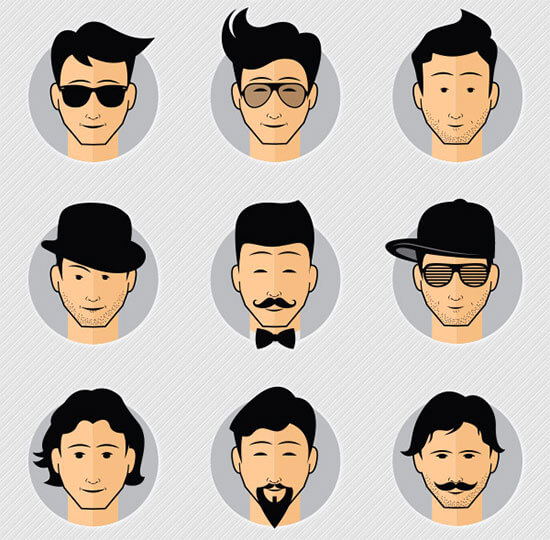 9 Free Cool Male Avatars Vector&PNG