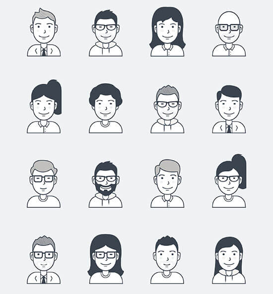 16 SVG User Avatars