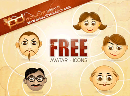 Avatars Free PSD