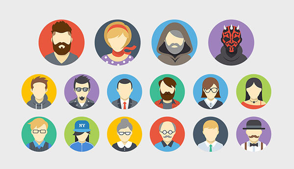 Avatars Flat Icons