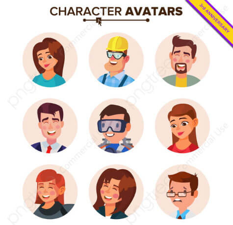 People Avatar Cartoon Illustration
