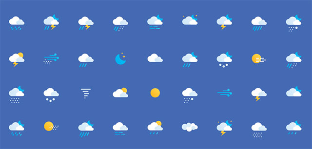 Free Weather Icons by Alexey Onufriev