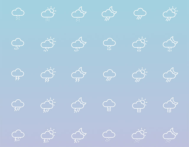 74 Weather Icons Free Download
