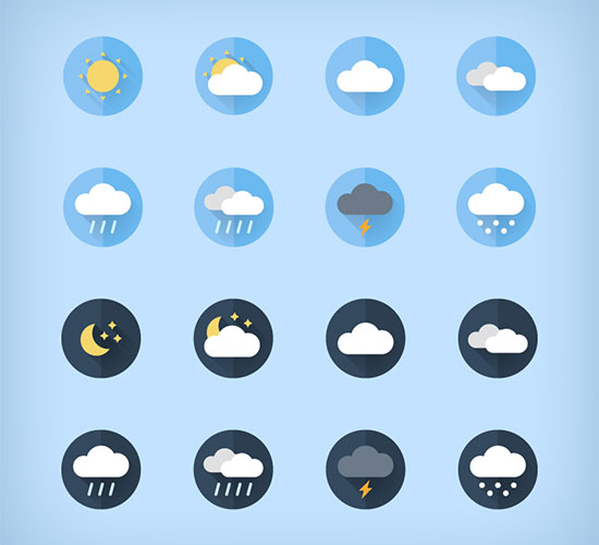 Free Weather FlatIcons