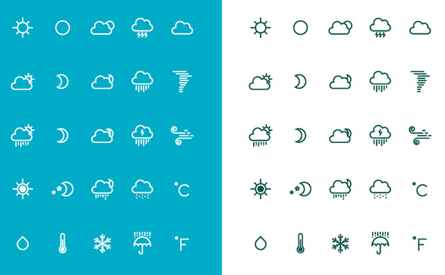 Free weather icons by Yihsuan Lu