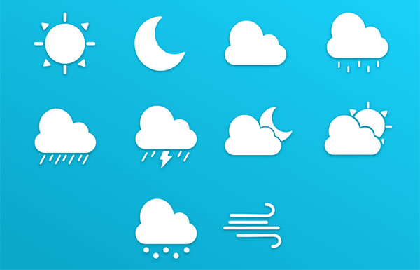 Weather IconSet by Orlando Marty