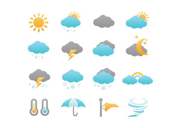 PSD Weather IconsPack