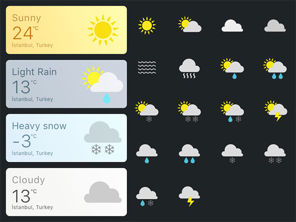 Daily UI — Weather Card&Icons
