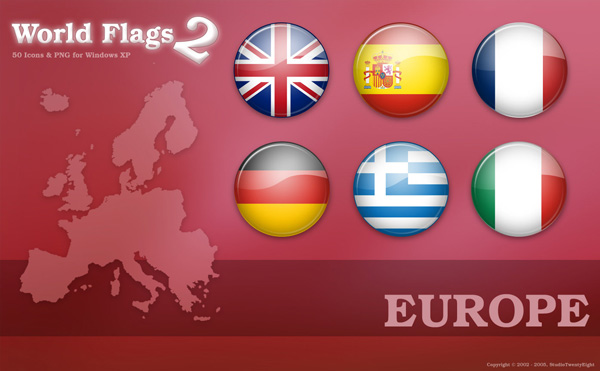Flags Icons of Europe