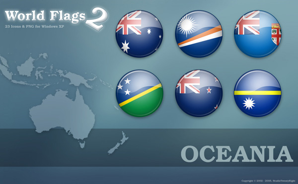 23 World Flags of Oceania