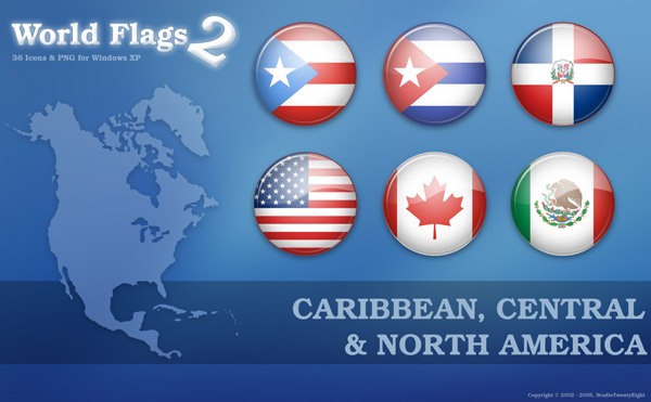 Flags of Caribbean, Central & North America