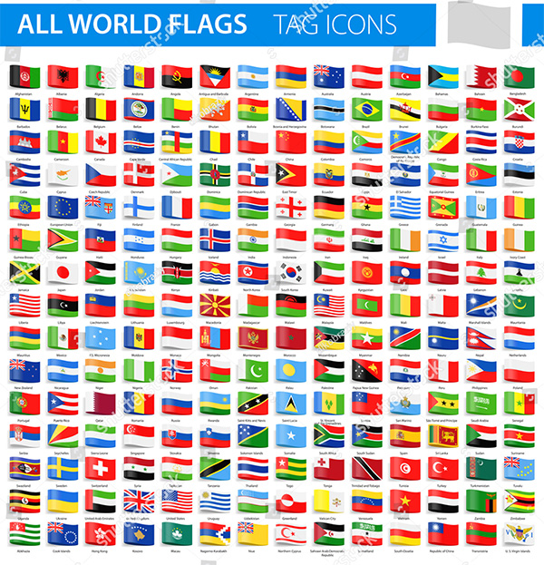 Tag Flag Icons