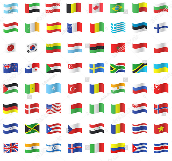 Vector Collection of Flags