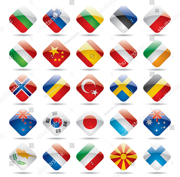 Vector Flag Iconset 2