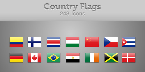 243 Country Flag Icons