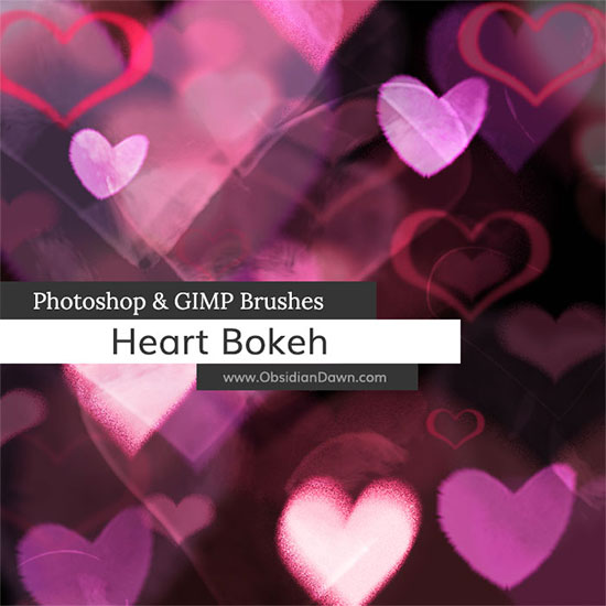 Heart Bokeh Photoshop and GIMP Brushes