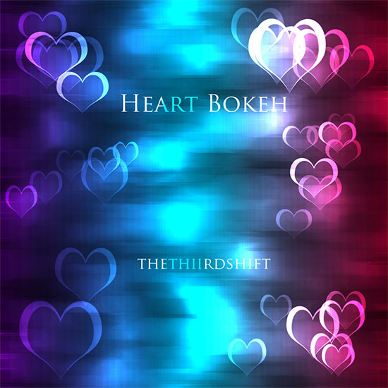 Bokeh Brushes Hearts by Thethiirdshift