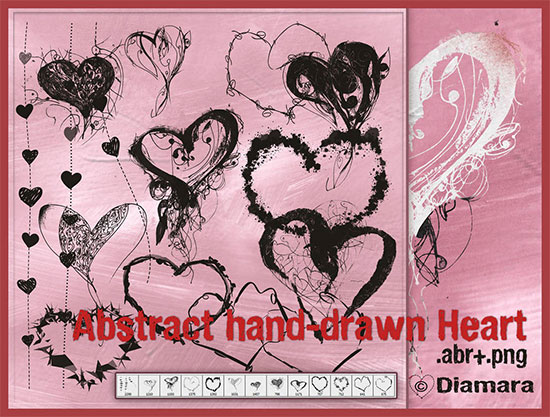 Abstract Heart by Diamara