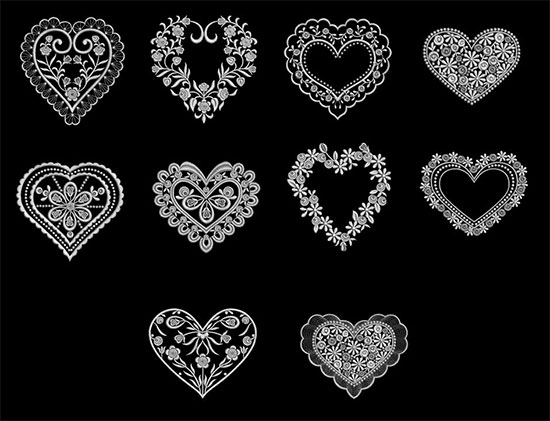 Patchwork Floral Hearts
