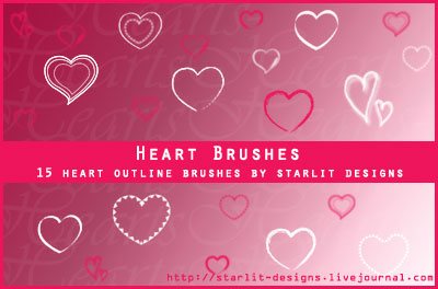 Heart Brushes Set2 by Mystique87