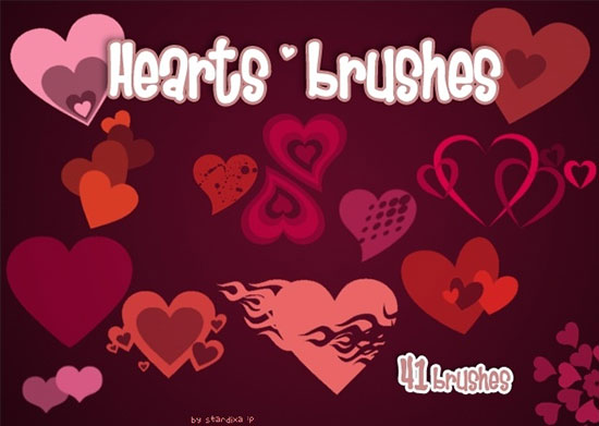 41 Hearts Brushes