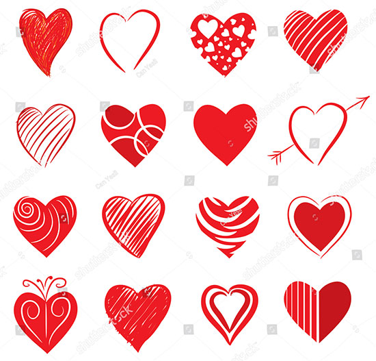 Vector Heart Set