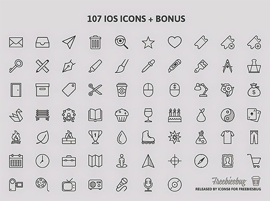 100+ Free PSD icons for iOS7
