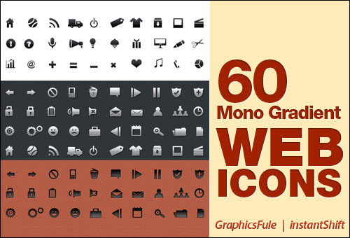 Mono Gradient Icons Set