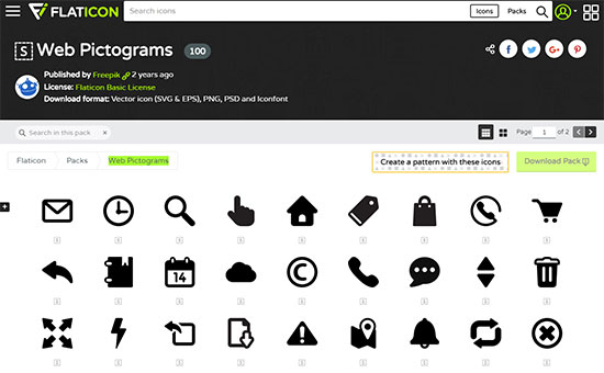 Web Pictograms from Flaticon