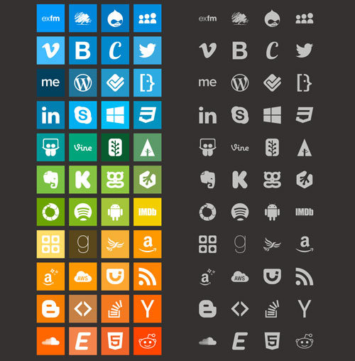 100 Vibrant Brands Icons