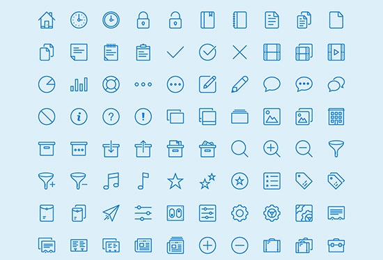 450 outline icons