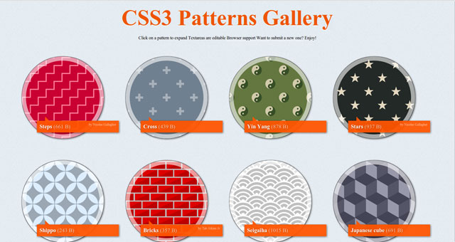 cssgal2 CSS3 Background/css3 patterns