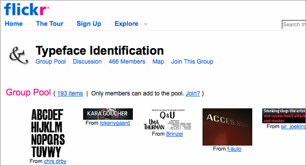 Group Flickr Typeface Identification
