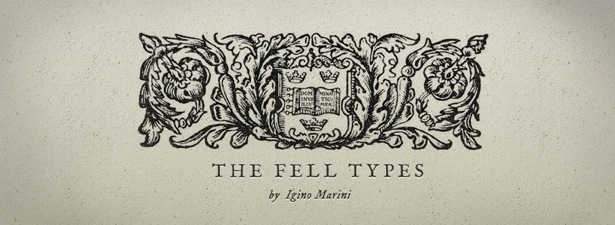 шрифт The Fell Types