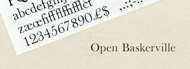 the font Open Baskerville