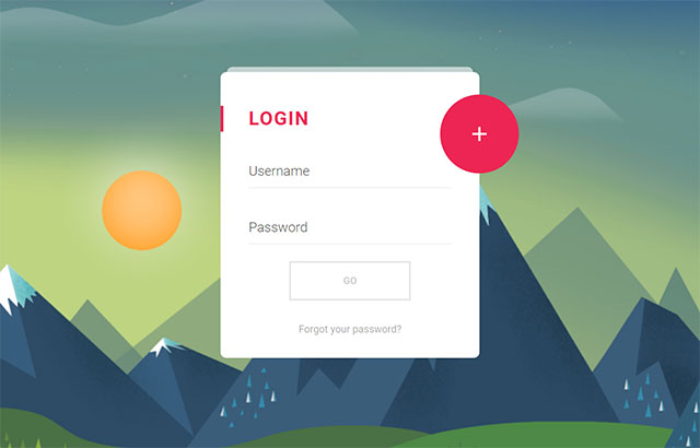 Material Compact Login Animation