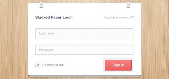Stacked Paper Login