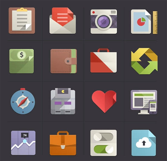 Flat Design Icons Set Vol2