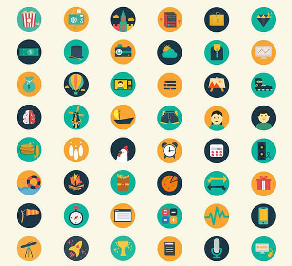 Meroo – A Gorgeous Free Flat-Styled Icon Set