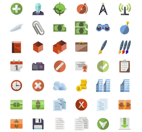 3600 Flat Icons Bundle