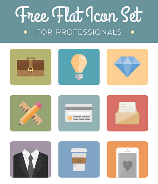Flat Icon Set for Professionals