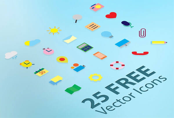 25 Free Flat Vector Icons