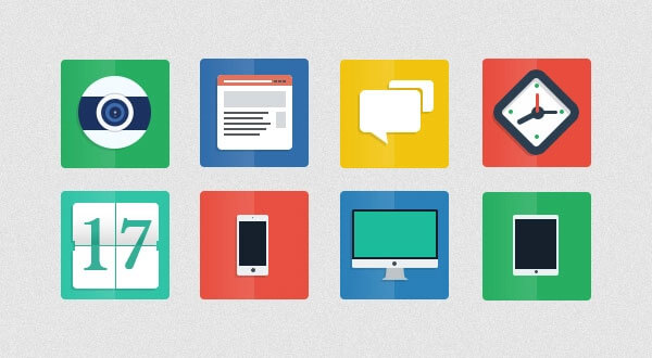 Flat Icons PSD by Alberto Valentin
