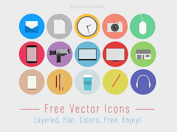 Flat Design Free IconSet