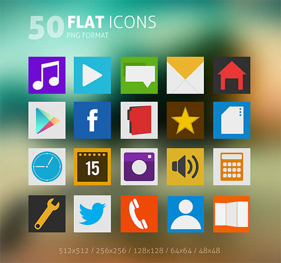 50 Flat Icons Pack by Martz90