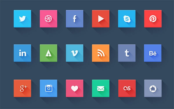 Social Icons Freebie by Pierre Borodin